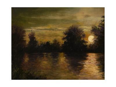 The Setting Glow-Mary Weber-Framed Art Print
