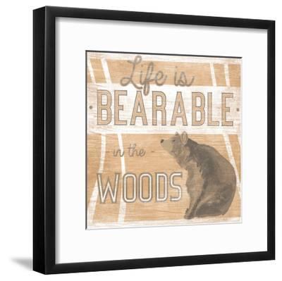 Lodge Life III-June Vess-Framed Art Print