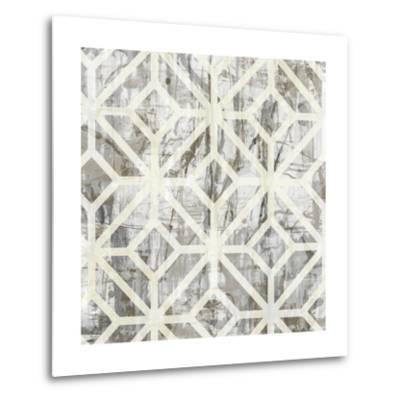 Neutral Metric III-Jennifer Goldberger-Metal Print