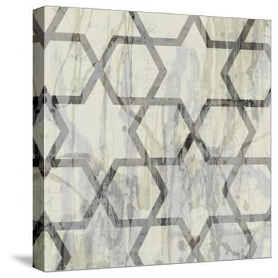 Neutral Metric VIII-Jennifer Goldberger-Stretched Canvas Print