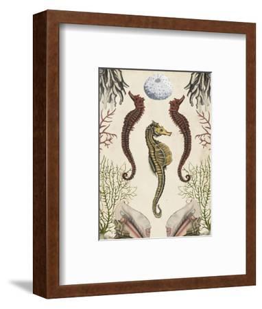 Antiquarian Menagerie - Seahorse-Naomi McCavitt-Framed Art Print