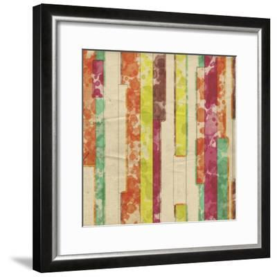 Geometric Color Shape VII-Irena Orlov-Framed Art Print