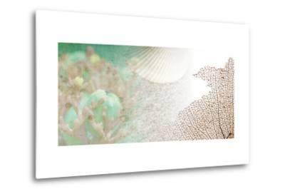 Serene Photo Collage II-Irena Orlov-Metal Print