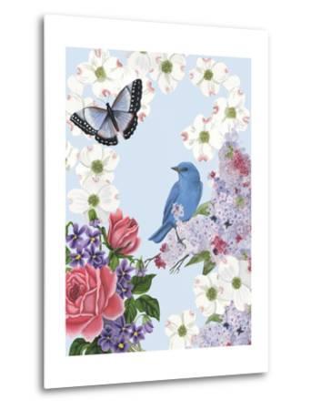 Bird Garden I-Naomi McCavitt-Metal Print