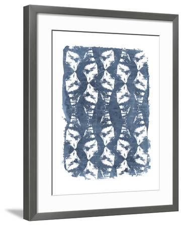Batik Shell Patterns IV-June Vess-Framed Art Print