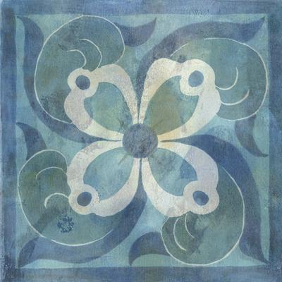 Patinaed Tile V-Naomi McCavitt-Framed Art Print
