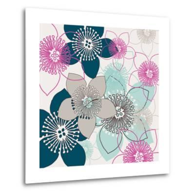 Boho Floral Collection II-Nicole Ketchum-Metal Print
