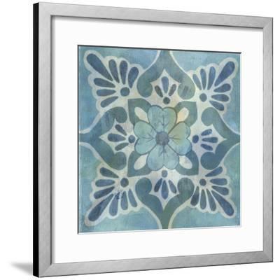 Patinaed Tile VI-Naomi McCavitt-Framed Art Print