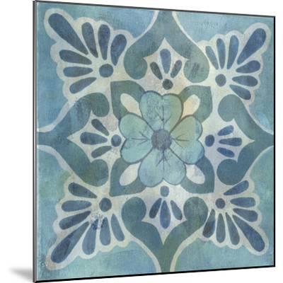 Patinaed Tile VI-Naomi McCavitt-Mounted Art Print