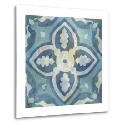 Patinaed Tile IV-Naomi McCavitt-Metal Print