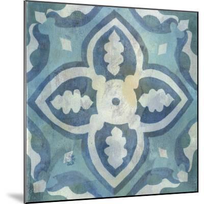 Patinaed Tile IV-Naomi McCavitt-Mounted Art Print