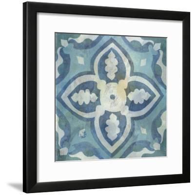 Patinaed Tile IV-Naomi McCavitt-Framed Art Print