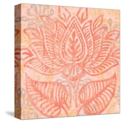 Block Print Paisley II-Leslie Mark-Stretched Canvas Print