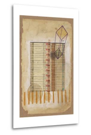 Grid and Parallelogram-Nikki Galapon-Metal Print