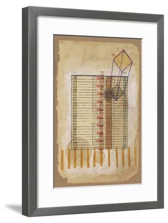 Grid and Parallelogram-Nikki Galapon-Framed Art Print