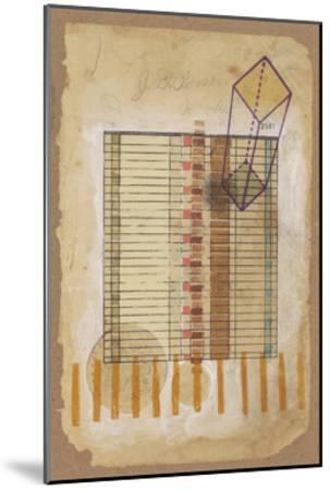 Grid and Parallelogram-Nikki Galapon-Mounted Art Print
