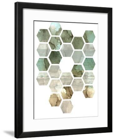 Hexocollage II-Pam Ilosky-Framed Art Print