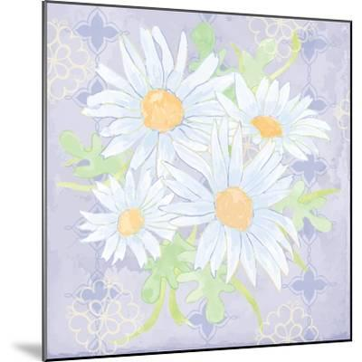 Daisy Patch Serenity I-Leslie Mark-Mounted Art Print