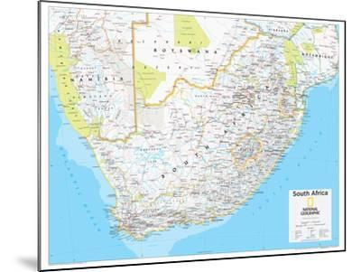 2014 South Africa - National Geographic Atlas of the World, 10th Edition-National Geographic Maps-Mounted Poster