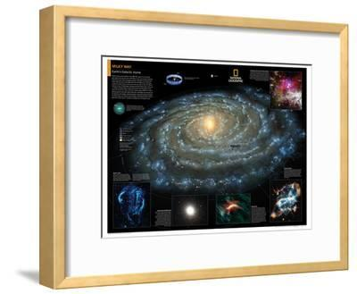 2014 Milky Way - National Geographic Atlas of the World, 10th Edition-National Geographic Maps-Framed Poster