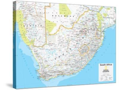 2014 South Africa - National Geographic Atlas of the World, 10th Edition-National Geographic Maps-Stretched Canvas Print
