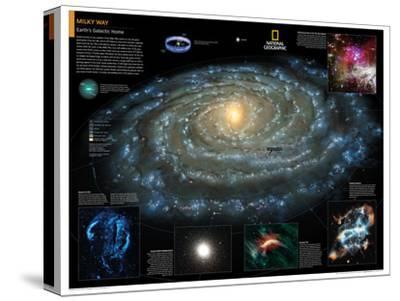 2014 Milky Way - National Geographic Atlas of the World, 10th Edition-National Geographic Maps-Stretched Canvas Print