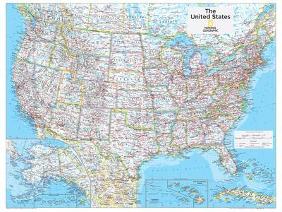 2014 United States Political - National Geographic Atlas of the World, 10th Edition-National Geographic Maps-Poster