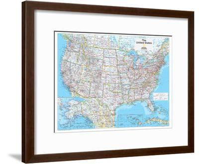 2014 United States Political - National Geographic Atlas of the World, 10th Edition-National Geographic Maps-Framed Poster
