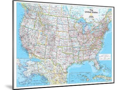2014 United States Political - National Geographic Atlas of the World, 10th Edition-National Geographic Maps-Mounted Poster