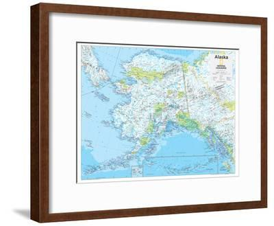 2014 Alaska - National Geographic Atlas of the World, 10th Edition-National Geographic Maps-Framed Poster