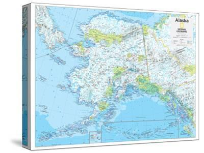 2014 Alaska - National Geographic Atlas of the World, 10th Edition-National Geographic Maps-Stretched Canvas Print
