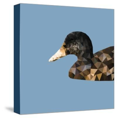 Abstract Polygonal Vector Illustration. Portrait of Duck-Jan Fidler-Stretched Canvas Print