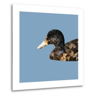 Abstract Polygonal Vector Illustration. Portrait of Duck-Jan Fidler-Metal Print