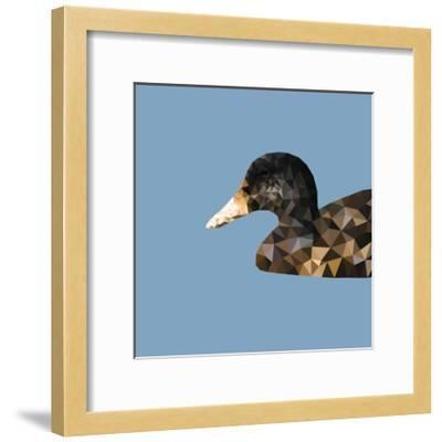 Abstract Polygonal Vector Illustration. Portrait of Duck-Jan Fidler-Framed Photographic Print