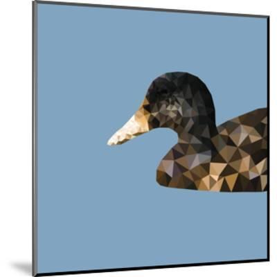Abstract Polygonal Vector Illustration. Portrait of Duck-Jan Fidler-Mounted Photographic Print