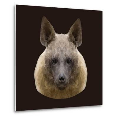 Canine Beast of Pray, Hyena, Low Poly Vector Portrait Illustration-Jan Fidler-Metal Print