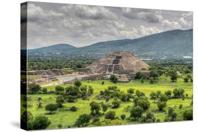 The Ancient Pyramid of the Moon. the Second Largest Pyramid in Teotihuacan, Mexico-Felix Lipov-Stretched Canvas Print