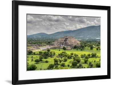 The Ancient Pyramid of the Moon. the Second Largest Pyramid in Teotihuacan, Mexico-Felix Lipov-Framed Photographic Print