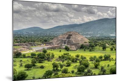 The Ancient Pyramid of the Moon. the Second Largest Pyramid in Teotihuacan, Mexico-Felix Lipov-Mounted Photographic Print