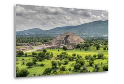 The Ancient Pyramid of the Moon. the Second Largest Pyramid in Teotihuacan, Mexico-Felix Lipov-Metal Print