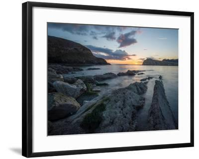 A View Along the Ledges at Lulworth Cove in Dorset-Chris Button-Framed Photographic Print