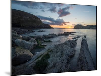 A View Along the Ledges at Lulworth Cove in Dorset-Chris Button-Mounted Photographic Print