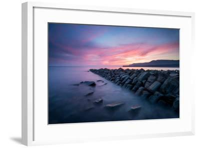 A View of Kimmeridge Bay in Dorset-Chris Button-Framed Photographic Print