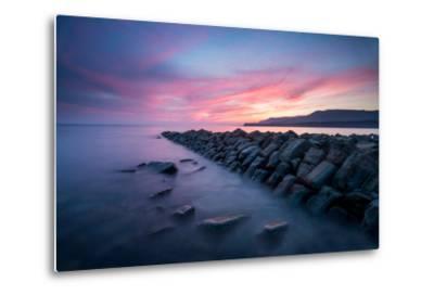 A View of Kimmeridge Bay in Dorset-Chris Button-Metal Print