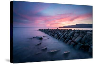A View of Kimmeridge Bay in Dorset-Chris Button-Stretched Canvas Print