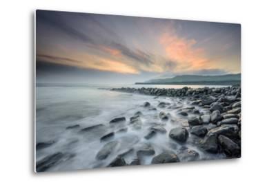A View of Clavell's Pier Near Kimmeridge-Chris Button-Metal Print