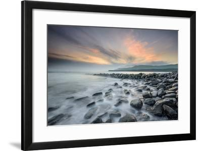 A View of Clavell's Pier Near Kimmeridge-Chris Button-Framed Photographic Print