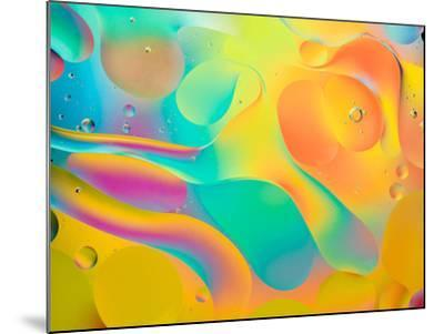 Abstract Colorful Background, Oil Drops on Water- Abstract Oil Work-Mounted Photographic Print