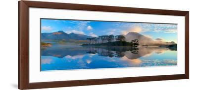Misty Morning Reflection of the Twelve Bens in Derryclare Lough, Connemara, Co Galway, Ireland-Gareth McCormack-Framed Photographic Print
