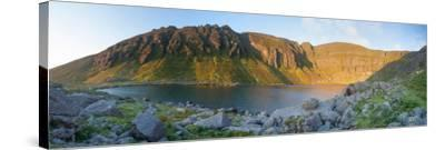 Dawn Light Illuminates Coumshingaun, Comeragh Mountains, County Waterford, Ireland-Gareth McCormack-Stretched Canvas Print